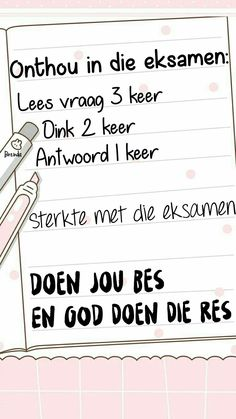 Exam Wishes, Exam Quotes, Afrikaanse Quotes, Motivational Quotes, Inspirational Quotes, Goeie More, Wedding Pics, Birthday Greetings, Hare