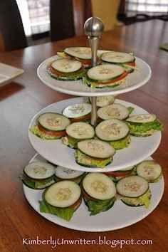 Cucumber Avocado Sandwiches.