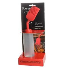 BBQ Galore BBQ Basting Bottle.  Fits right inside the Pit Boss BBQ Tool Belt.  http://pitbossbelt.com/wp/barbeques-galore
