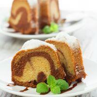 Milk Chocolate Marble Swirl Pound Cake