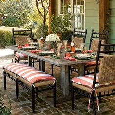 Lloyd Flanders, all-weather wicker,low country, picnic table
