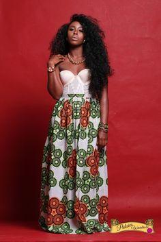 ANKARA MAXI SKIRT ~African fashion, Ankara, kitenge, African women dresses, African prints, Braids, Nigerian wedding, Ghanaian fashion, African wedding ~DKK