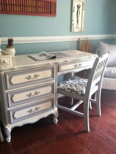 Sold/French Provincial Desk With Chair by SaundersDesign on Etsy