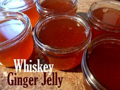 Delicious Whiskey Ginger Jelly Canning Recipe The Homestead Survival - Homesteading - Sauce Au Poivre, Whiskey Ginger, Bourbon, Do It Yourself Food, Jam And Jelly, Wine Jelly, Jelly Jelly, Pepper Jelly, Home Canning