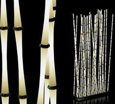Bamboo Zen Garden Lamps Design for Interior Decoration - Modern Modern Lighting Design, Unique Lighting, Interior Lighting, Outdoor Lighting, Lighting Ideas, Accent Lighting, Light Design, Unique Lamps, Lighting Solutions