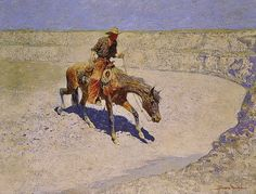 Frederic Remington c. 1906  'Only Alkali Water'