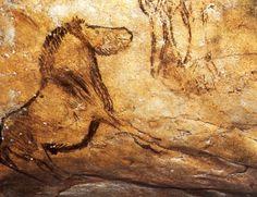 Painted horse, Grotte de Niaux, Ariege, France.