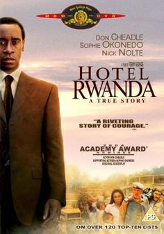 Hotel Rwanda heartbreaking true story that everyone should see!  Such pain & needless killings exist in our everyday existence is hardly believable, but unfortunately true.  God bless our brothers & sisters!