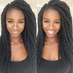 Crochet Braids Hairstyles for Your Inspiration 55 Kinky Twist Braids Hairstyles with [summer # Braids africanas twist Twist Braid Hairstyles, Crochet Braids Hairstyles, Twist Braids, Cool Hairstyles, Black Hairstyles, Hair Twists, Dreadlock Hairstyles, Hairstyles 2018, Protective Hairstyles