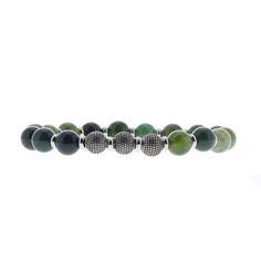 Bracelet Perles Trois ronds métal