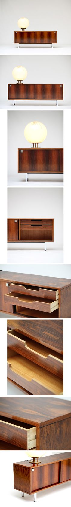 Alfred Hendrickx enfilade 1960s     Small Alfred Hendrickx sideboard produced by Belform 1960s. Sliding doors and 2 drawers.