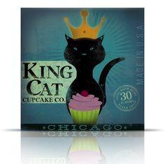 """King Cat Cupcake Company"" | original design"