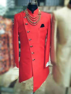 Red Indo Western for man. All size & color available. Blazer For Men Wedding, Sherwani For Men Wedding, Wedding Dresses Men Indian, Mens Sherwani, Wedding Dress Men, Wedding Groom, Mens Indian Wear, Indian Men Fashion, Mens Fashion Suits