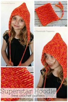 Watch The Video Splendid Crochet a Puff Flower Ideas. Phenomenal Crochet a Puff Flower Ideas. Crochet Hooded Scarf, Crochet Hoodie, Crochet Cap, Crochet Beanie, Crochet Shawl, Diy Crochet, Crochet Stitches, Crochet Patterns, Crochet Accessories