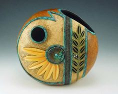 Decorated Gourd by Bonnie Gibson
