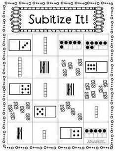 Subitize It FREEBIE for K and Grade - Kids education and learning acts Subitizing Activities, Kindergarten Math Activities, Preschool Math, Math Classroom, Teaching Math, Numeracy, Math Games Grade 1, Number Sense Activities, Number Sense Kindergarten