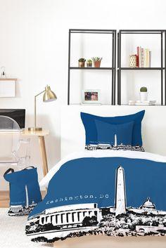 Bird Ave Washington Navy Bed In A Bag