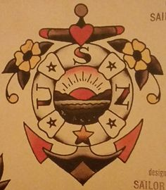 Traditional/old school tattoo, sailor jerry, anchor, nautical, USN