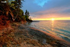 Five MIle Point Sunset, Lake Superior
