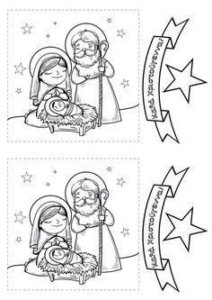 icu ~ Pin by Efi Georgiadou on Χριστούγεννα Preschool Christmas Crafts, Christmas Activities, Kids Crafts, Christmas Nativity, Christmas Projects, Kids Christmas, Jesus Crafts, Bible Crafts, Cat Coloring Page