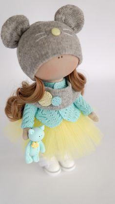 Pretty Dolls, Beautiful Dolls, Unicorn Doll, Homemade Dolls, Fabric Toys, Crochet Doll Pattern, Sewing Dolls, Clay Dolls, Felt Toys