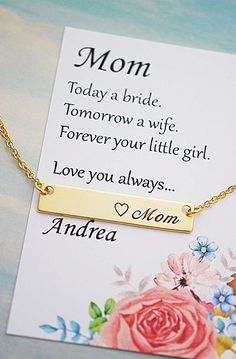 Mother Of The Bride Gift Necklace From EarringsNation In Law Mothers Day Daughter