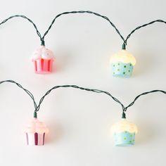Shelley B Home and Holiday - Cupcake Light Strand , $21.50 (http://shelleybhomeandholiday.com/cupcake-light-strand/)