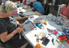 Sewing, chatting and enjoying the sunshine Janet Bolton, Textile Courses, Enjoy The Sunshine, Teaching, Sewing, Gallery, Home Decor, Dressmaking, Decoration Home