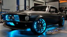 The Microsoft Mustang concept car. When Tron goes old school. Way too cool