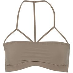 T by Alexander Wang Bandeau bikini top ($45) ❤ liked on Polyvore featuring swimwear, bikinis, bikini tops, tops, swim, crop top, swimsuits, mushroom, swim suits and swimsuit swimwear