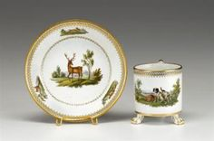 Meissen Marcolini period coffee can & saucer late 18th/ early 19th century.