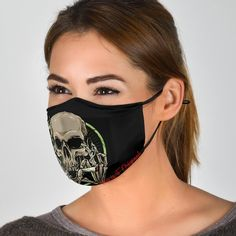 Silver Skull Smile Two Protection Face Mask Halloween Masks, Halloween Face Makeup, Real Skull, Pride Colors, Bandana Styles, Black Skulls, Skull Design, Ear Loop, Face Shapes
