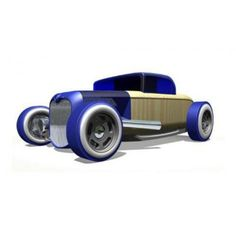 Mini Hot Rod Blue - Automoblox for sale by Little Shop of Treasures. Other Automoblox available now at LSOT.