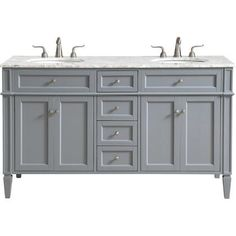 This classic. contemporary marble top vanity console from our Park Avenue collection is roomy enough to keep all your bath essentials close at hand. Fitted with a spacious Italian Carrara white marble counter top and 2 oval porcelain sink. Painted Gray Cabinets, Grey Cabinets, Vanity Cabinet, Vanity Sink, Porcelain Sink, White Porcelain, 72 Inch Vanity, Marble Vanity Tops, Marble Top