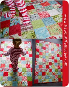 Christmas Quilt, reminds me of our fave picnic blanket quilt!