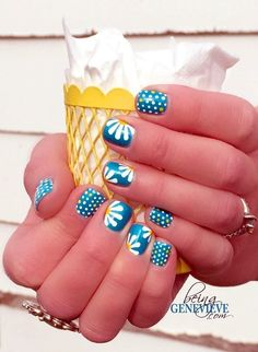 I have a collection of 15 Spring Gel Nail Art Designs, Ideas & Stickers 2016 that you can try out in this beautiful season of mist and mallows. Fancy Nails, Love Nails, Diy Nails, Pretty Nails, Dot Nail Designs, Pretty Nail Designs, Nail Designs Spring, Nails Design, Fingernail Designs