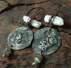 Winter Series Rustic Earrings by Vintajia Adornments