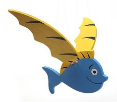 Lovely handcrafted wooden flying fish natural by woodenplay, $40.00