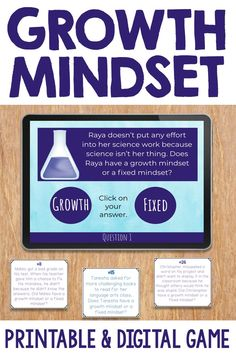 Looking for fun ways to help your students understand the difference between a growth mindset and a fixed mindset? These activities are the perfect way to keep your students engaged as they understand what a growth mindset is and what it isn't. Use them with elementary students who give up easily, struggle with mistakes, or need to build perseverance. It is great for individual, small group and classroom counseling lessons.