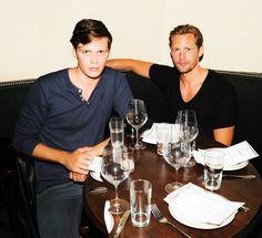 Alexander Skarsgard + Bill Skarsgard = Good Looking Brothers