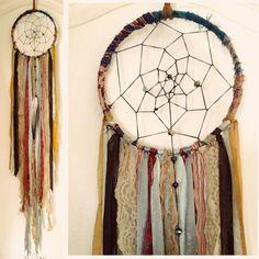 Bohemian Spirit Vintage Fabric Dreamcatcher by kmichel on Etsy, $55.00