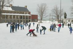 Skating in Officer's Square in Fredericton Public Skating, Fredericton New Brunswick, Outdoor Skating Rink, New Brunswick Canada, Canada Eh, The Province, Capital City, Skate, Street View