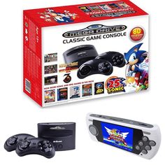 So #Sega has an answer to #Nintendo with their #MegaDrive with 80 games installed and the ability to use original #Cartridges from the #Genesis #console Many of the games are mini games but below is the list of full games and it is impressive. This drops in October for $65. A portable version is pictured also. No release date on that yet. #AlexKidd in the Enchanted Castle Alien Storm #AlteredBeast Arrow Flash Bonanza Bros. Chakan: The Forever Man Columns Columns III ComixZone Crac...