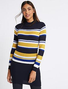 Cosy up in our women's knitwear. From jumpers to cardigans and gilets in woollen and cashmere fabrics, browse the complete collection at M&S Cashmere Fabric, Long A Line, Knitwear, Jumper, Turtle Neck, Price Point, Pullover, Sweaters, Collection
