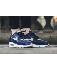 finest selection a5191 a7fec Nike Air Max 90 Ultra Binary Blue Oatmeal Trainer