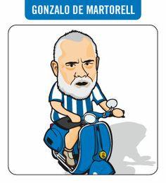 Caricatura de Gonzalo de Martorell. Periodista.