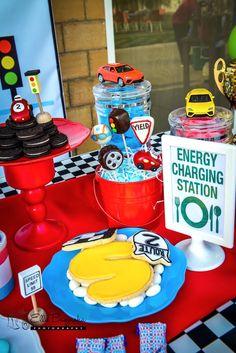 Sweet table detail from a Race Car Birthday Party on Kara's Party Ideas   KarasPartyIdeas.com (35)