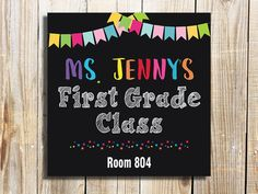 Teacher Door Sign - Getting ready for the start of school? Welcome your new students with this classroom door sign in rainbow colors!. Simply print and use as is, or put in a frame. Also perfect as a teacher appreciation gift!  ★ Receive a high resolution JPEG or PDF file for printing  ★ Can be printed on photo paper at home or at a photo lab, printed on poster paper at a photo lab, or printed on white card stock at home or at a copy shop.  ★ NO shipping cost! Digital item is sent via convo…