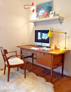 Mid Century Modern Desk and Chair Kipp Stewart for Drexel Declaration FREE SHIPPING on Etsy, $1,390.00