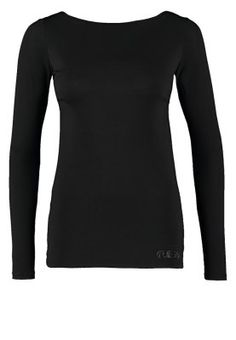 WARRAN - Long sleeved top - noir/jet black